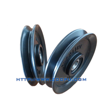 Top quality durable double wheel pulley for v belt