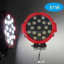 offroad car light 7inch 51W LED work light spot 12V 24V for Truck Marine Farm Machine tractor accessories Manufacturers