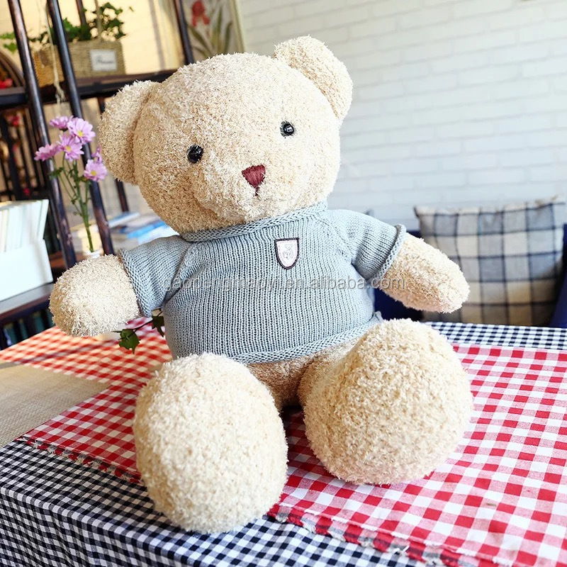 child toy with blue cloth plush toy teddy bear toys