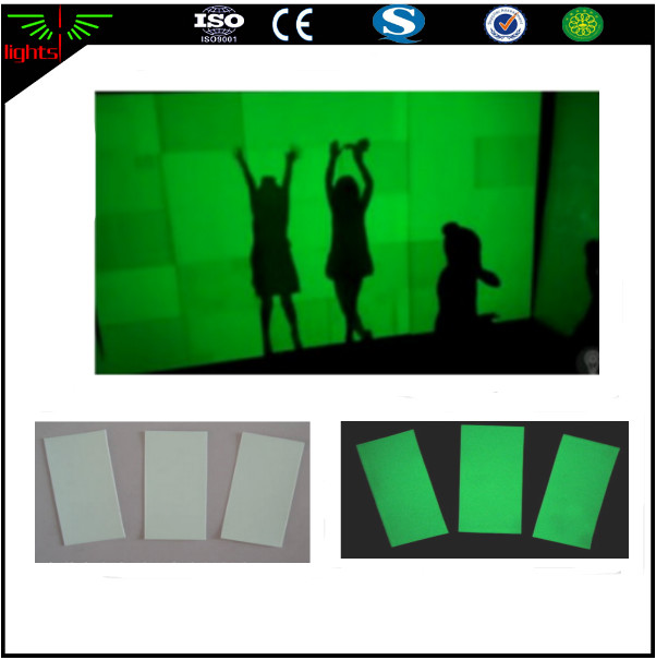 glow in the dark photo luminescent adhesive vinyl film paper / glowing pvc film sheeting stickers