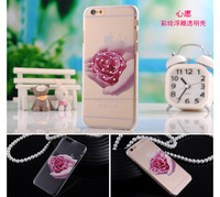 High quality new fashion diamond ultra thin slim TPU Back phone case for Iphone 5S
