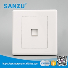 Wholesale price white wall mount 1 tel wall socket outlet