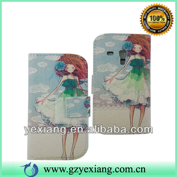 For Samsung Galaxy S3 Mini I8190 Case, Leather Flip Cover For I8190
