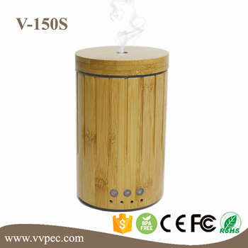 natural bamboo Air Humidifier Essential Oil Diffuser Cool mist bamboo essential oil diffuser with private label