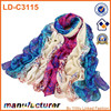 Latest colourful floral voile chiffon scarves