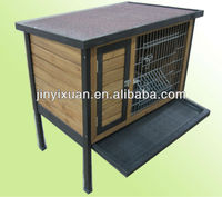 Wooden Rabbit Hutch with Plastic Tray / Rabbit House / Rabbit Cage