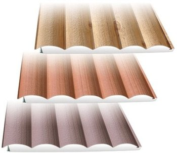 Log shape steel siding sandwich panel