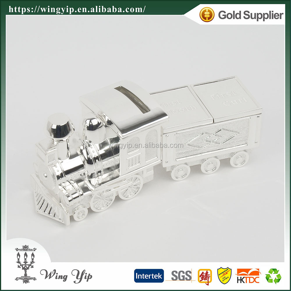 Wholesales manufacturer Baby Souvenir Train Metal Tooth and Curl Holder