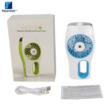 Wholesale Portable 2000mah Built-in Battery Rechargeable Handheld Humidifier Water Mist Fan