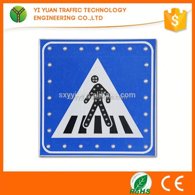 Car driving directions reflective flashing solar led traffic stop sign