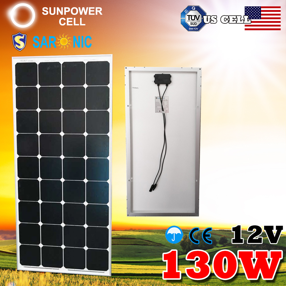 Factory Direct 12V 130W 130 Watt Monocrystalline MONO Solar Panel