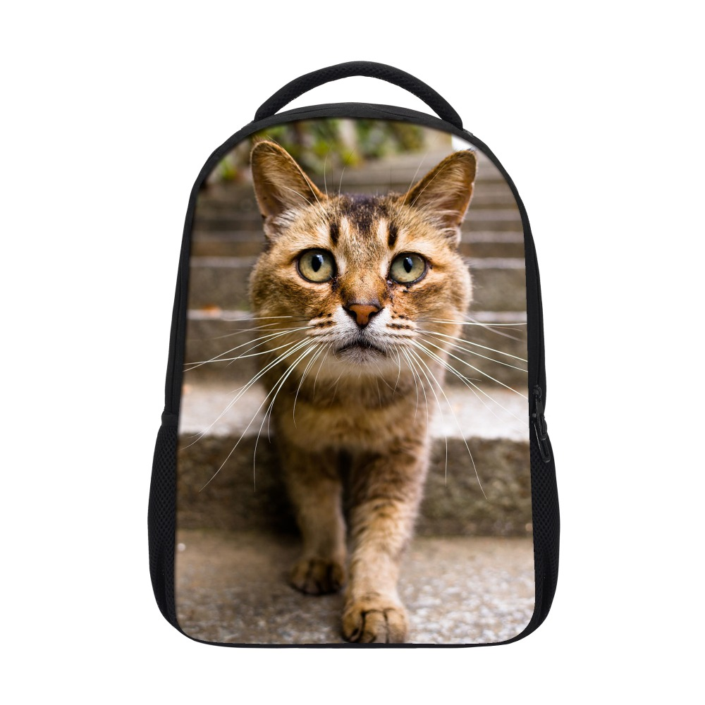 Wholesale personalized cute 3d animal cat printing child school bag,fancy children bag