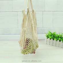 Promotional custom washable cotton bags vegetable fruit mesh net shopping packing bag