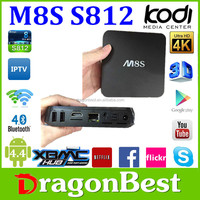 Alibaba M8S Amlogic S812 Quad Core Android 5.1 Tv Box more strong then android mx s805 tv box