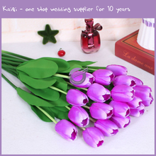 K9431 Wholesale wedding table centerpieces decorations artificial silk tulip flower