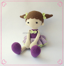 Wholsesale Baby Crochet Amigurumi Doll 100% Handmade Knitted Girl Stuffed Toys