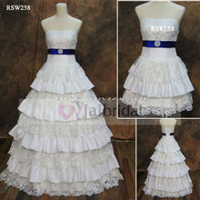 RSW258 Royal Blue And White Wedding Dresses