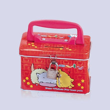 lovely metal tin box lunch tin box for factory price