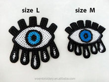 Eye Sequin Sparkling Hot Fix Patch for Applique