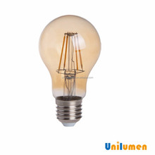 Popular Plastic with Aluminum 3000K WW SMD 2835 4W E27 A60 carbon filament lamp