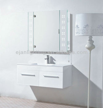 Illuminated Bathroom Mirror Cabinet With Shaver Socket View Bathroom