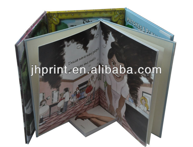 cartoon picture board children/baby story book printing