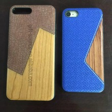 wooden phone case with leather for iphone 7 iphone 6