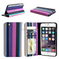 leather cheap mobile phone case for iphone 6 with 3 card holders