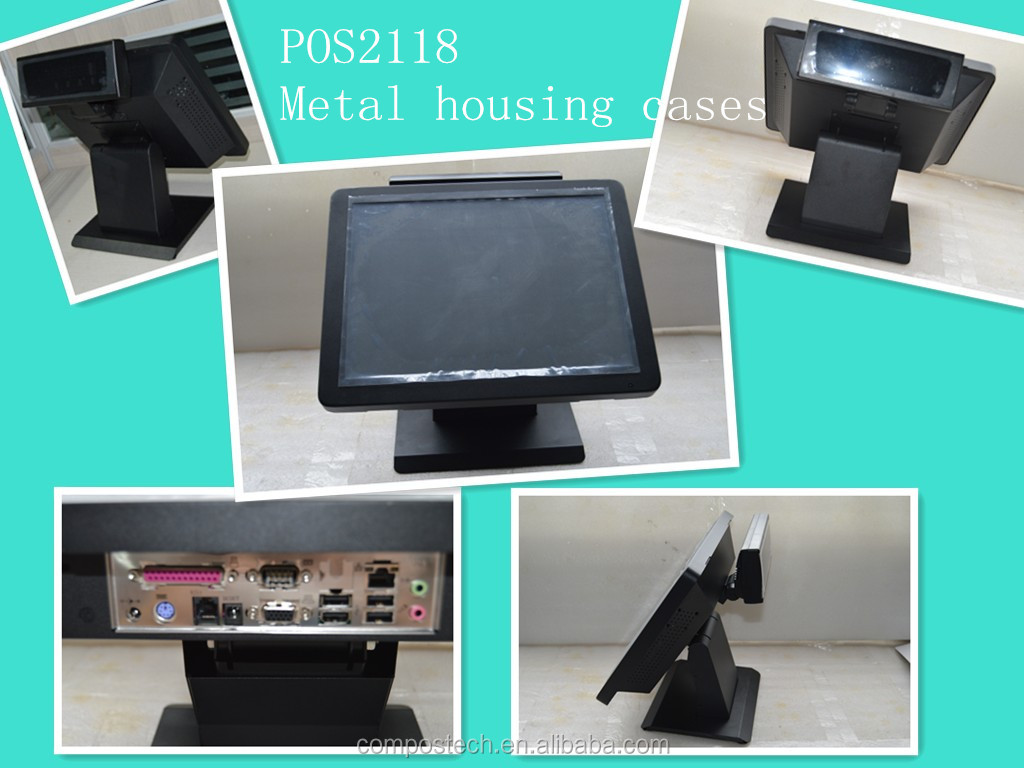 NEW Fanless metal housing cases POS system/15inch touch screen pos system