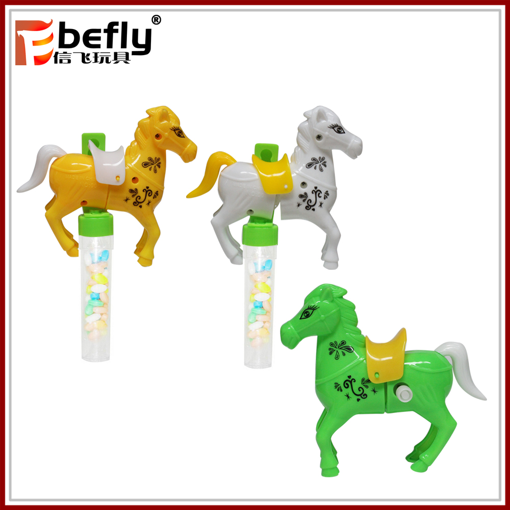 Wind up horse candy toys for wholesale candy tubes