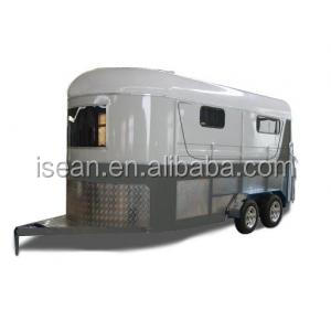 2016 hot sale 2 horse float trailer