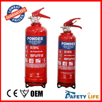 1kg small dry powder fire extinguisher/2kg dry powder fire extinguisher with steel rack