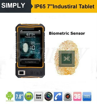 IP65 NFC/RFID/2D/UHF/WIFI/GPS/BT Rugged Android 4.4 Industrial biometric fingerprint reader price