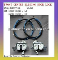 toyota hiace car parts #000601 left right front center sliding door lock for toyota hiace 69380-26010 69370-26010