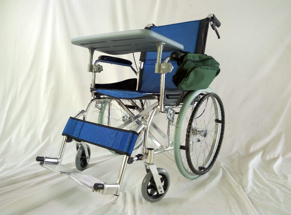Hot sale Aluminum manual wheelchair with table