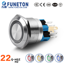 Stainless steel led illuminated pushbutton momentary button switch