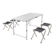 Europe and America masa aluminum folding picnic table and chairs