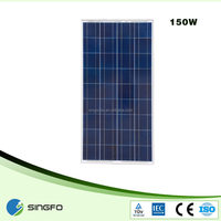 cheap pv solar penel 150w solar panel manufacturer in China for india