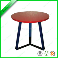 Wholesale home furniture MDF top with iron legs coffee table wood for sale
