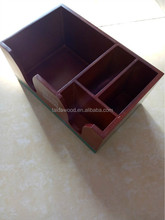 office organizer set wooden office files box