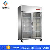 IS-D1.0L2 -10~0 D1.0L2 2 glass door display cabinet 1000L storage cabinet refrigerator