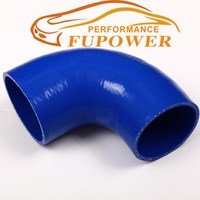 "2"" to 2"" inch (51mm to 51mm) 90 Degree Silicone Reducer Elbow Hose for Turbo intercooler /Heater/Radiator Coupler Hose blue pipe"