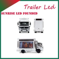 Sunrise 4x2 full color mobile outdoor advertising LED truck p8/p10 screen for roadshow
