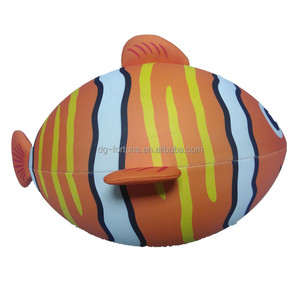 Wholesale water fish ball toys,neoprene 24 inch floaty fish ball for kids play in pool