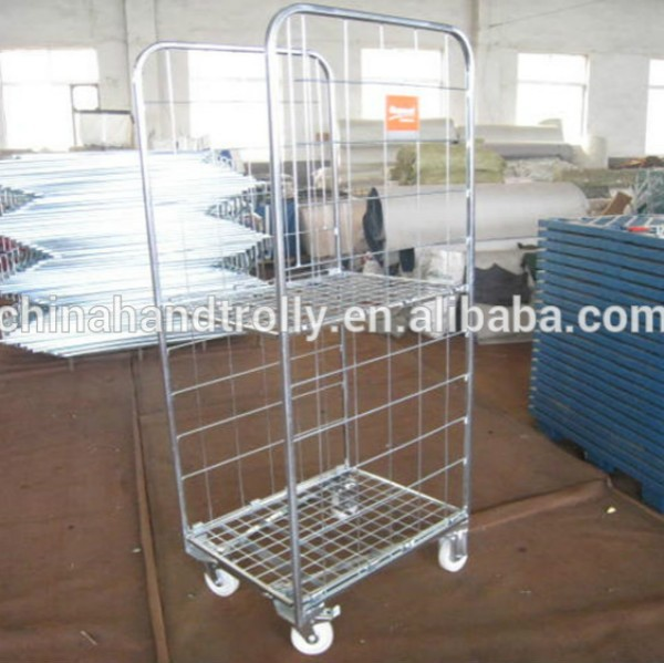 storage roll container collapsible rolling cart