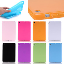 candy color slim tpu soft case for iPad mini 1 2 3, for ipad mini 1 2 3 cover