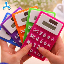 Digital silicone foldable calculator, pocket calculator solar energy calculator
