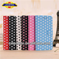 For Blackberry BB Z10 Polka Dot Wallert leather Case for BB Z10
