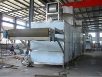 Vegetable and fruit tunnel dryer machine with adjustable temperature