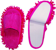 chenille cleaning slipper,dust mop slippers